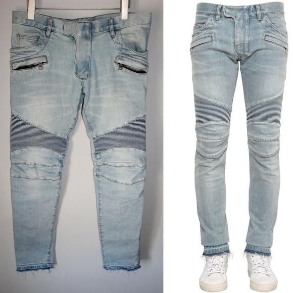 3fe3243200769d Balmain Jeans | Flawed Ribbed Biker Hw5675 | Poshmark